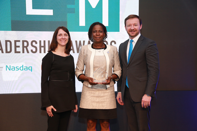 NGYF President Allyson Solomon accepts STEM Leadership Award in New York City